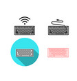 set wireless and usb keyboard icons vector image vector image