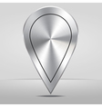 Silver Map Location Pointer Icon vector image vector image