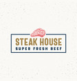 steak house vintage typography label emblem vector image vector image