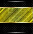 Techno abstract green background striped texture vector image vector image