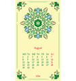 template calendar 2016 for month August vector image