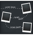 Three Photo Frames vector image vector image