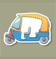 tuk tuk sticker icon cartoon style