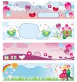 Valentine's Day banners vector image vector image