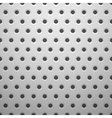 White metal texture with holes vector image