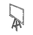 whiteboard icon doodle hand drawn or outline icon vector image