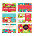 Winter Holiday Christmas Template Invitation vector image vector image