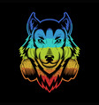 wolf headphone colorful vector image vector image