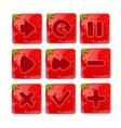 a set Cartoon red buttons vector image