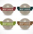 Set of sale badges vector image