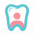 Logo combination of person and tooth vector image