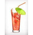 Strawberry cocktail icon vector image