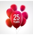 Celebration colorful background with red balloons vector image