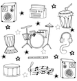 Doodle of musical instrument hand draw vector image