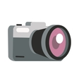 Photo Camera in Flat Design vector image