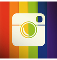 Simple Hipster Photo Icon with Abstract colorful vector image