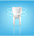 3d realistic render human tooth with glow vector image