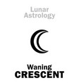 astrology waning crescent moon vector image vector image