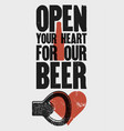 beer phrase typographical vintage grunge poster vector image vector image