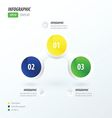Business concept green blue yellow vector image vector image