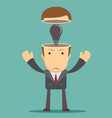 business concept no ideas lamps vector image vector image