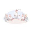 business meeting leadership coworking concept vector image vector image