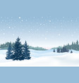 christmas snowy background snow winter landscape vector image vector image