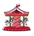 circus carousel icon image vector image
