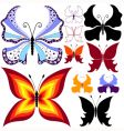 collection abstract butterflies vector image vector image