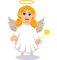 cute angel cartoon for you design vector image