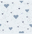 cute hearts background seamless pattern vector image vector image
