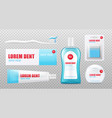 dental care hygiene product set - realistic mockup vector image vector image