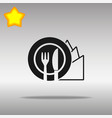 diet black icon button logo symbol vector image