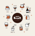 drinks hand drawn doodle icons set vector image