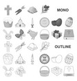 easter is a christian holiday monochrom icons in vector image vector image