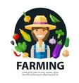 farming farmer farm logo design template vector image vector image