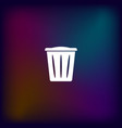 flat paper cut style icon of trash can vector image vector image