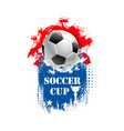 for soccer cup emblem for football club vector image vector image