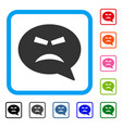 furious smiley message framed icon vector image