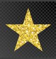 gold glitter star golden sparcle star on vector image