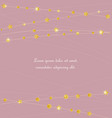 golden color circles and stars vector image vector image