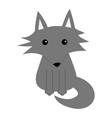 gray wolf cute cartoon baby character icon forest vector image