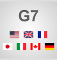group of seven great countries vector image vector image