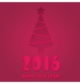 Happy new year 2016 colorful flat design vector image vector image