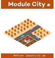 isometric autumnal city vector image