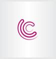 letter c icon symbol line logo logotype element vector image