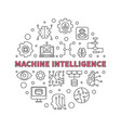 machine intelligence concept line round vector image vector image