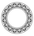 mandala australian dot paiting style- monochrome vector image vector image