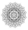 mandala vintage decoration geometric pattern vector image vector image