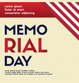 memorial day background greeting card vector image vector image
